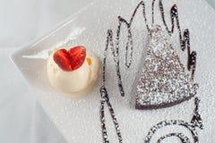 Al Cioccolato de Torta Fotografía de archivo