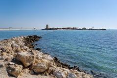 Al Dar Islands. Is Bahrain's island retreat for relaxation located off coast Bahrain in the Arabian Sea Stock Photos