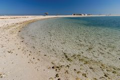 Al Dar Islands. Is Bahrain's island retreat for relaxation located off coast Bahrain in the Arabian Sea Royalty Free Stock Image