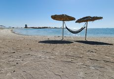 Al Dar Islands. Is Bahrain's island retreat for relaxation located off coast Bahrain in the Arabian Sea Royalty Free Stock Photography