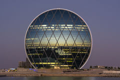 Al Dar siège le coucher du soleil de bâtiment Photographie stock