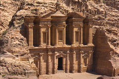 The al-Dayr tomb part of the Petra complex in Jordan Stock Image