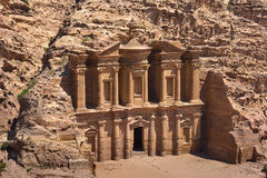 The al-Dayr tomb part of the Petra complex in Jordan Stock Photography