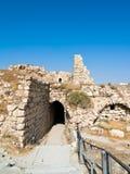 Al del castillo del cruzado - Kerak, Jordania Foto de archivo libre de regalías