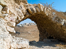 Al del castillo del cruzado - Kerak, Jordania imagenes de archivo