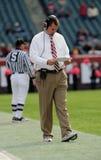 Al dell'allenatore di football americano dell'università di tempiale dorato Fotografia Stock Libera da Diritti