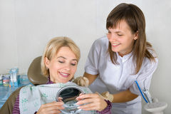 Al dentista Immagini Stock
