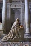 Al Duomo Di Napoli #2. Cappella del Succorpo - Oliviero Carafa orante Stock Photography