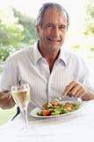 al eating fresco lunch man senior στοκ φωτογραφίες