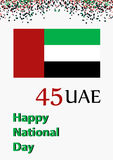 Al Eid Al Watani. Happy UAE national day. National holiday. Colored vector illustration stock illustration