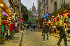 Al eventide di Montmartre fotografia stock