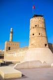 Al Fahidi堡垒,迪拜,阿拉伯联合酋长国。 库存照片