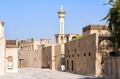Al Fahidi Historical Neighbourhood område ( Al Bastakiya ) i Dubai UAE Royaltyfri Fotografi