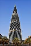 Al Faisaliyah Tower. This image was taken in Riyadh, Saudi Arabia. Al Faisaliyah tower is one of the landmark of Saudi Arabia Stock Photos