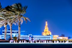 Al Fanar Doha Qatar. Al-Fanar Islamic Cultural Center is one of the most widely known architectural landmarks in Doha stock image