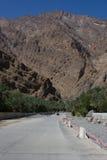 Al Fara, западное Hajar, Оман, Стоковая Фотография