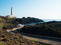 Al faro beach. Ustica Island. Palermo, Sicily Royalty Free Stock Photo