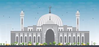 Al Fateh Grand Mosque i den Manama staden baikal royaltyfri illustrationer