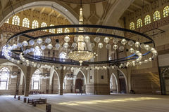 Al Fateh Grand Mosque i Manama, Bahrain Royaltyfria Foton