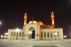 Al Fateh Grand Mosque i Manama, Bahrain arkivfoton