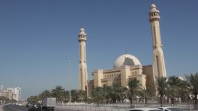 Al Fateh Grand Mosque in Manama, Bahrain stock footage