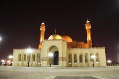 Al Fateh Grand Mosque in Manama, Bahrain. The Al-Fateh Mosque (also known as Al-Fateh Islamic Center & Al Fateh Grand Mosque). One of the largest mosques in the Stock Photos