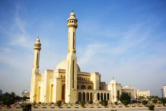 Al Fateh Grand Mosque in Manama, Bahrain Royalty Free Stock Photography