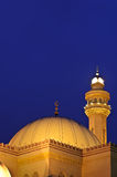 Al-Fateh Grand Mosque's Dome & Minaret Royalty Free Stock Photo