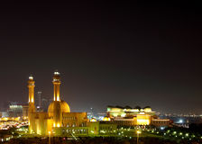 Al Fateh Mosque at night Stock Photography