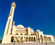 Al Fateh Uroczysty meczet w Manama kapitał Bahrajn zdjęcia stock