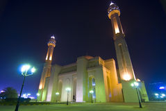 Al-Fatih Mosque night scene Royalty Free Stock Images