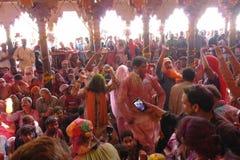 Al festival di colore di Holi a Mathura, Rajastan India immagine stock libera da diritti