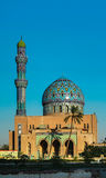 View to Al Fidos aka 17th ramadan Mosque in Baghdad at sunset, Iraq Stock Photography