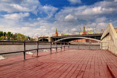 Al fiume di Mosca Immagine Stock Libera da Diritti