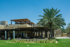 Al Forsan restaurant at Bab Al Shams desert arabian resort view Stock Image