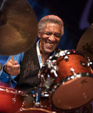 Al Foster vivo em Nisville Jazz Festival, o 11 de agosto 2017 fotografia de stock