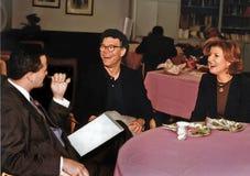 Al Franken en Arianna Huffington royalty-vrije stock afbeeldingen