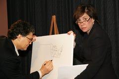 Al Franken en Katherine Lanpher royalty-vrije stock foto's