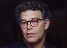 Al Franken. Then tv personality, comedian, author, and entertainer, Al Franken, in a reflective moment during an appearance at the Jewish Community Center in Royalty Free Stock Photo