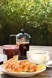 Al Fresco breakfast Royalty Free Stock Photo