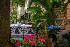 Al Fresco Dining Savannah stock foto