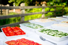 Al fresco food buffet Royalty Free Stock Images