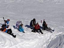 Al freskolunch op de skihelling Royalty-vrije Stock Foto