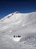 Al freskolunch op de skihelling Royalty-vrije Stock Fotografie