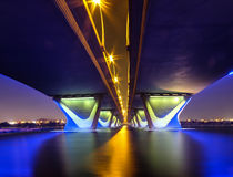 Al Garhoud Bridge Dubai Arkivfoto