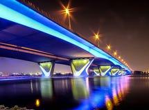 Al Garhoud Bridge Dubai Stock Afbeelding