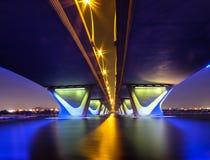 Al Garhoud most Dubaj Zdjęcie Stock