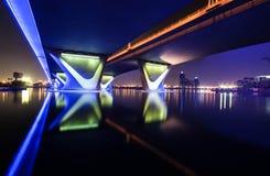 Al Garhoud most Dubaj Zdjęcia Stock