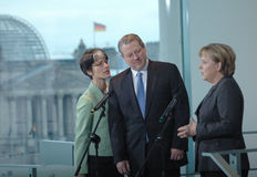 Al Gore, Angela Merkel Royalty Free Stock Photos