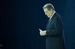 Al Gore avant un discours sur le changement climatique photos libres de droits